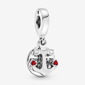 🌸Pandora Anchor and Hearts Dangle Charm
